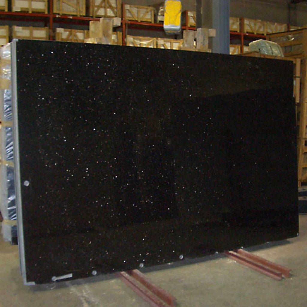 Black galaxy granite in standard quality
