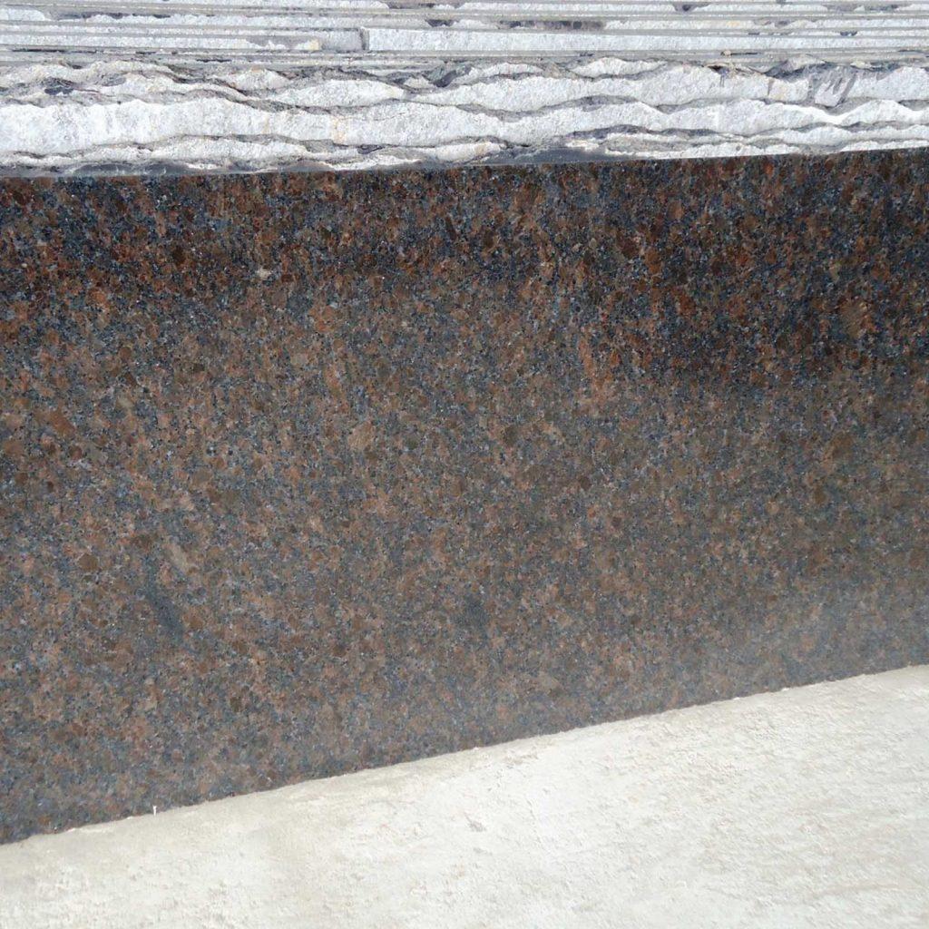 Coffee brown granite cutter slab