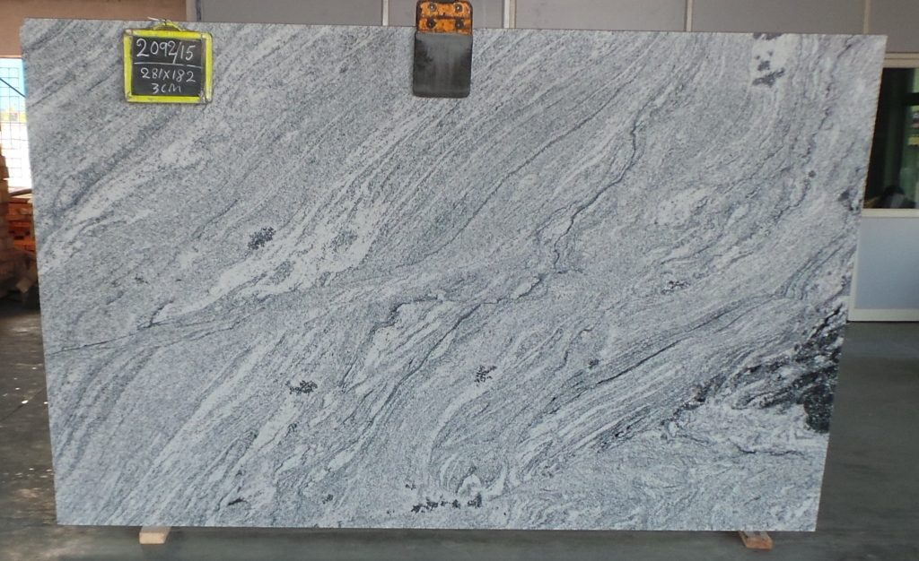 Commercial quality viscon white granite gangsaw slab supplier