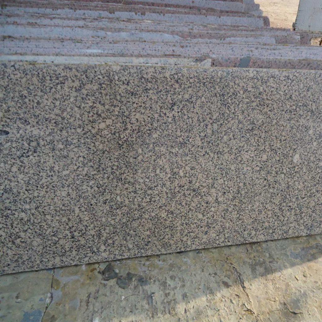 Crystal yellow cutter slab in granite