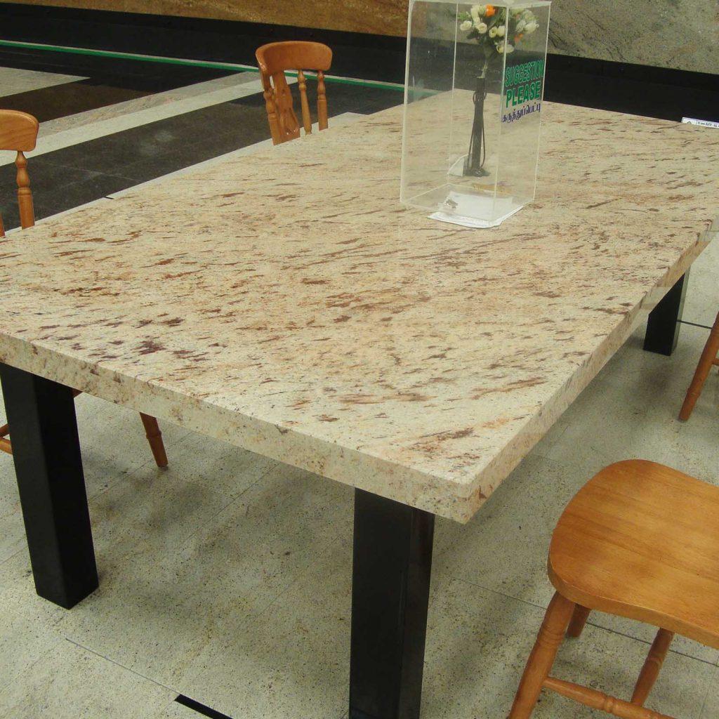 Ivory brown granite table top