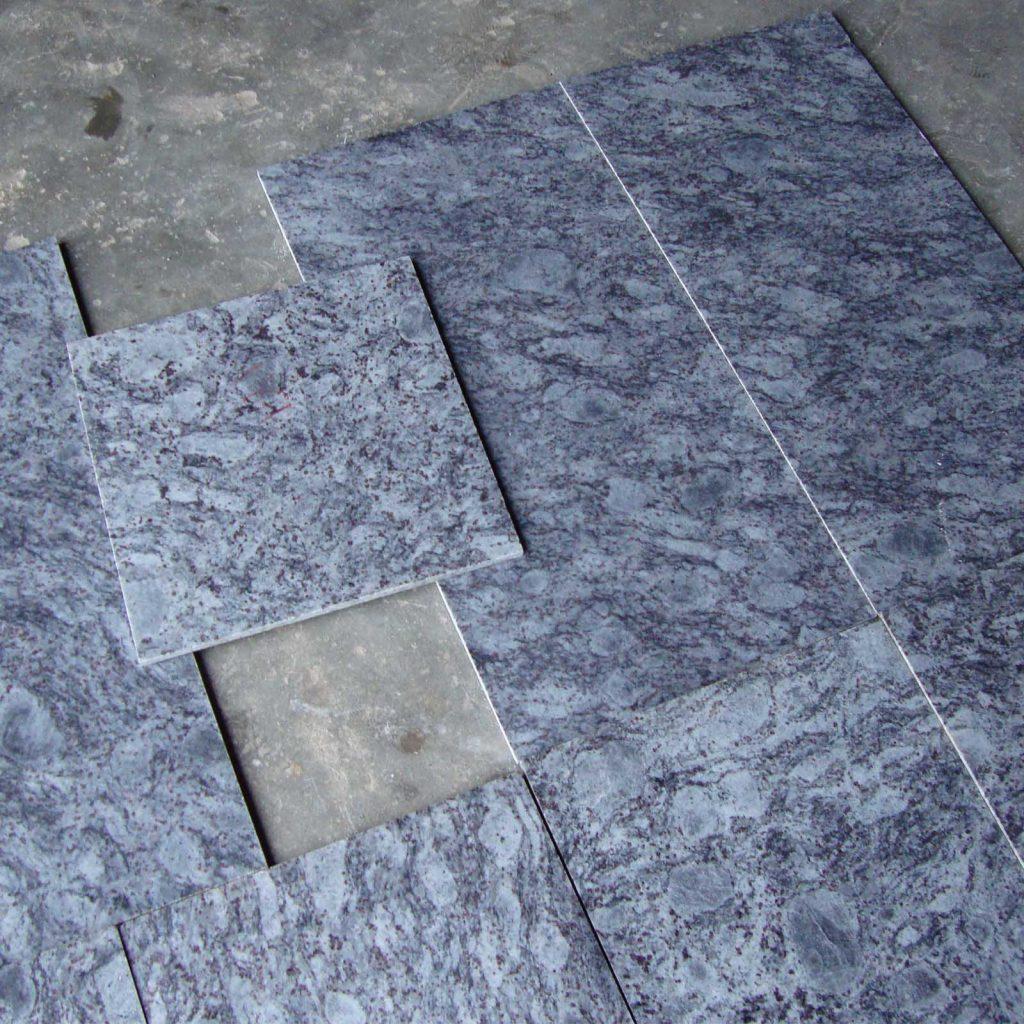 Customized lavender blue granite tiles