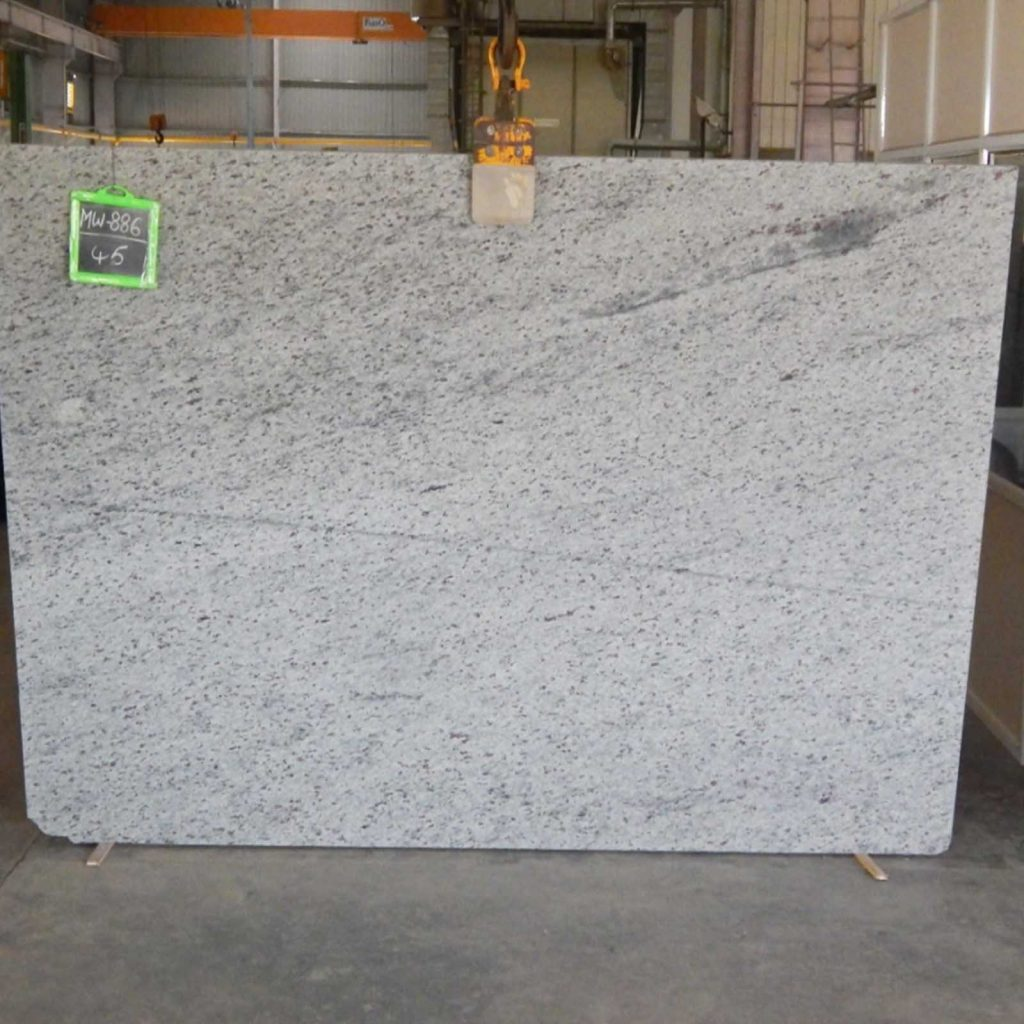 Moon white granite gangsaw slab exporter