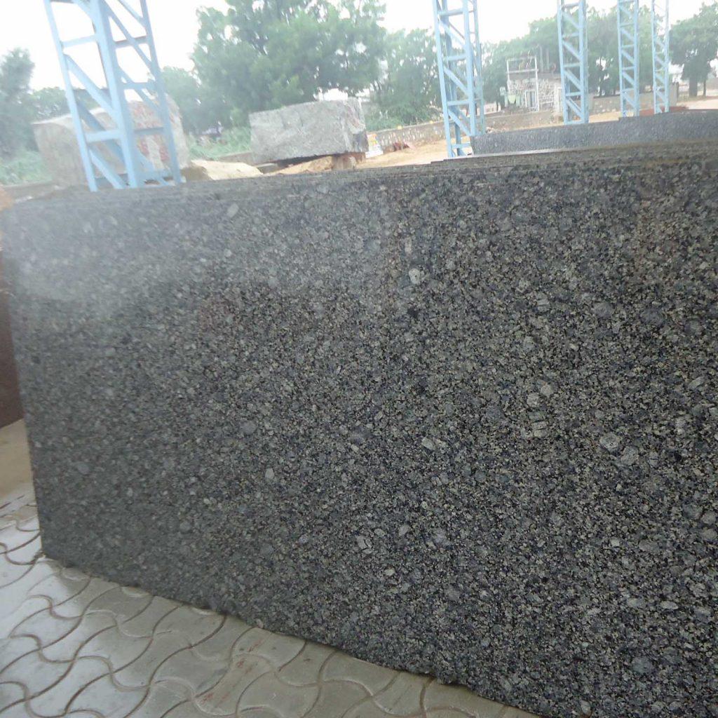 Topaz blue granite cutter slabs