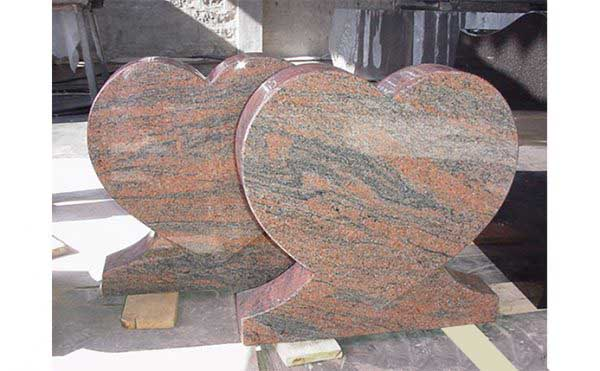 Heart UK Model Red Multi Color Granite Monuments