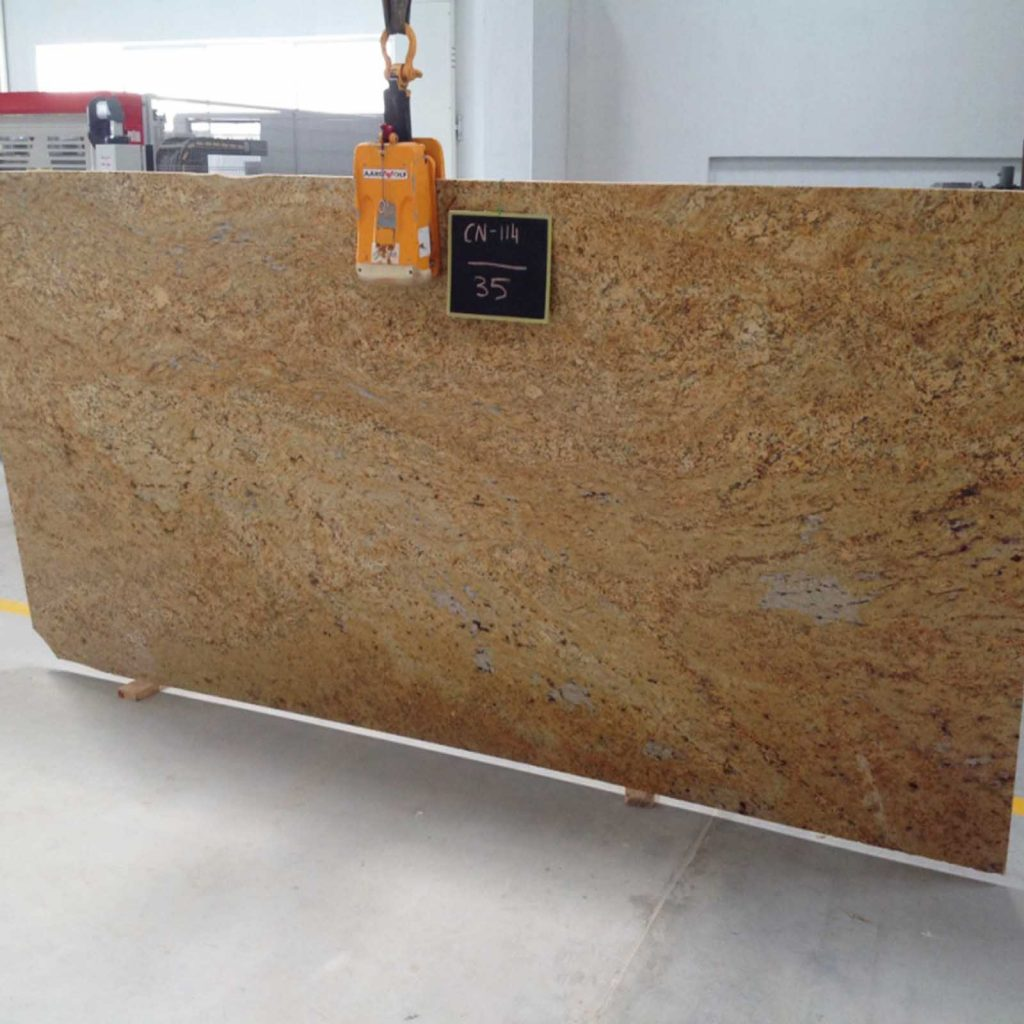Ivory gold granite slab product