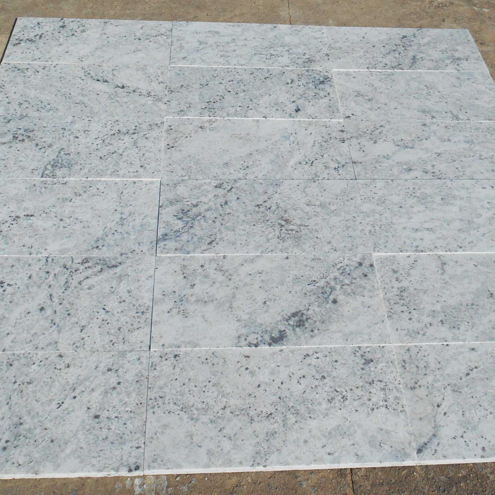 Colonial white granite tile honed