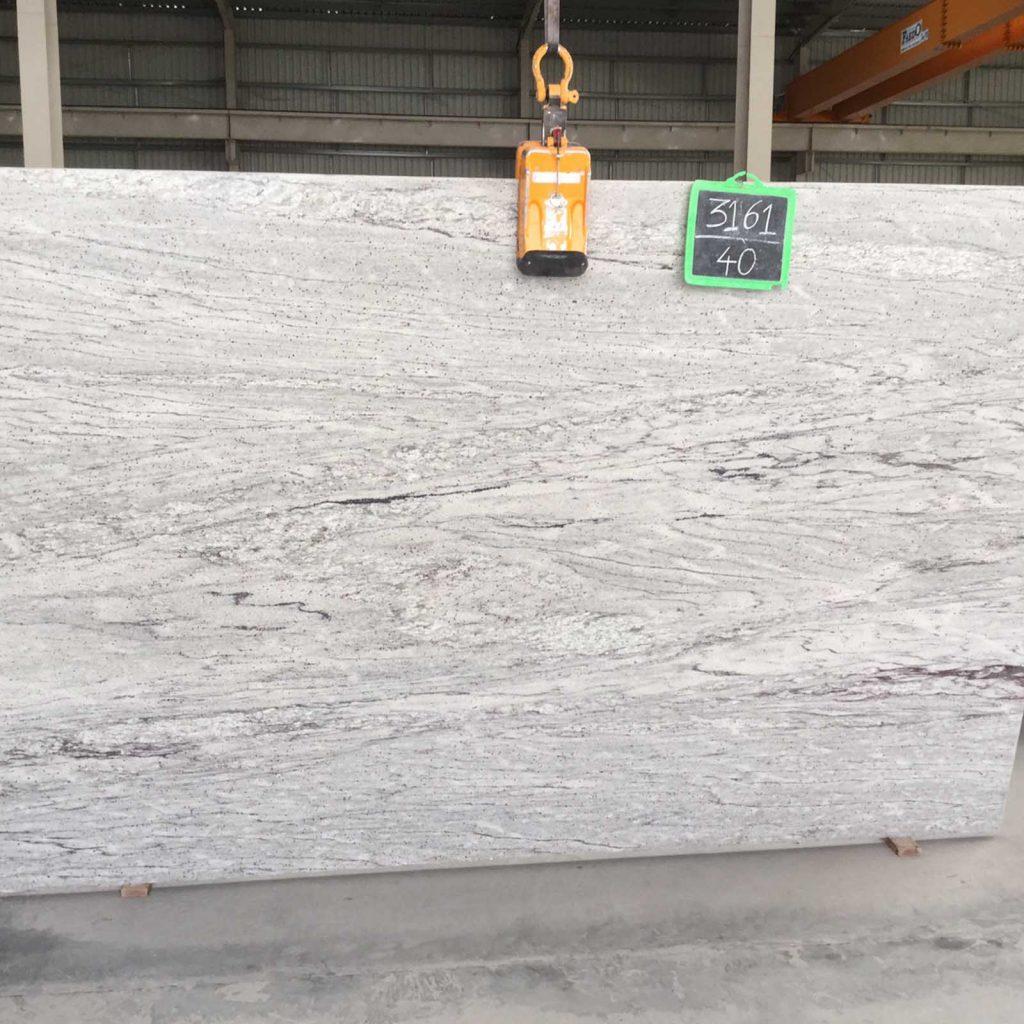 Thunder white granite slab exporter