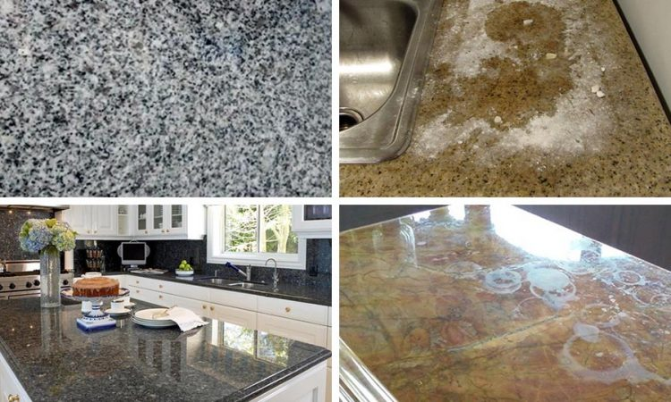 Performing Repair on Water Stained Granite Countertops