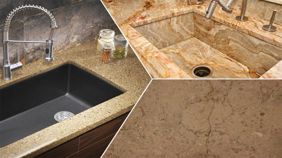 How to repair sinks inside granite kitchen tops effectively?