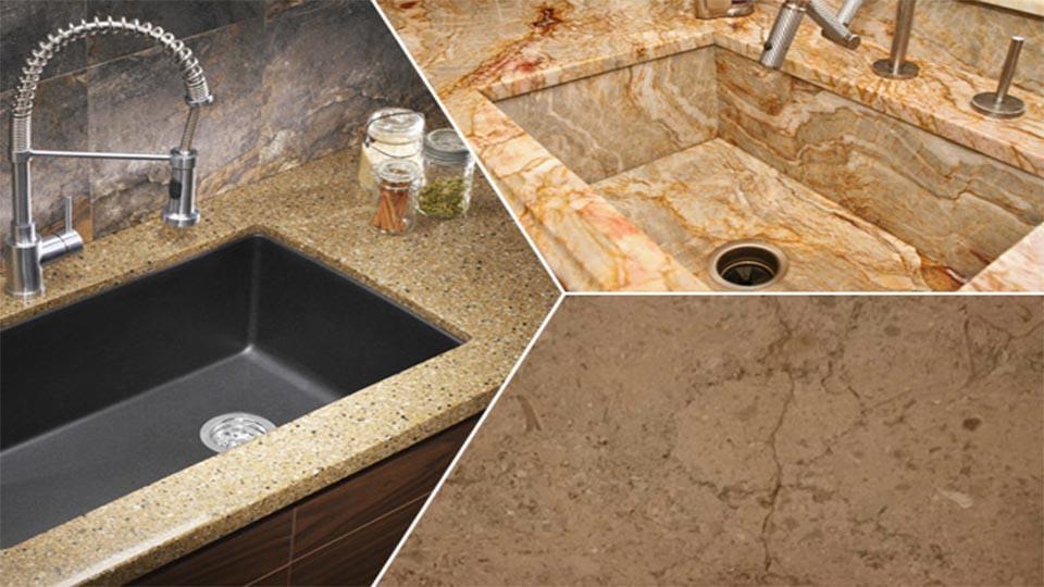 repair sinks inside granite kitchen