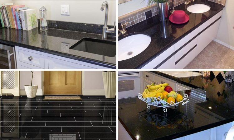 Black Galaxy Granite Redefining Stateliness with its Enticing Black and Golden Shades