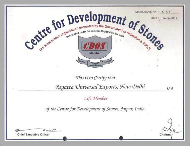 CDOS Certificate