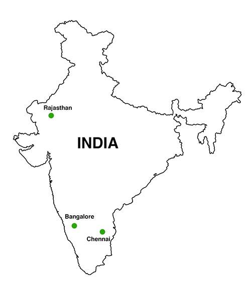 India as a granite hub