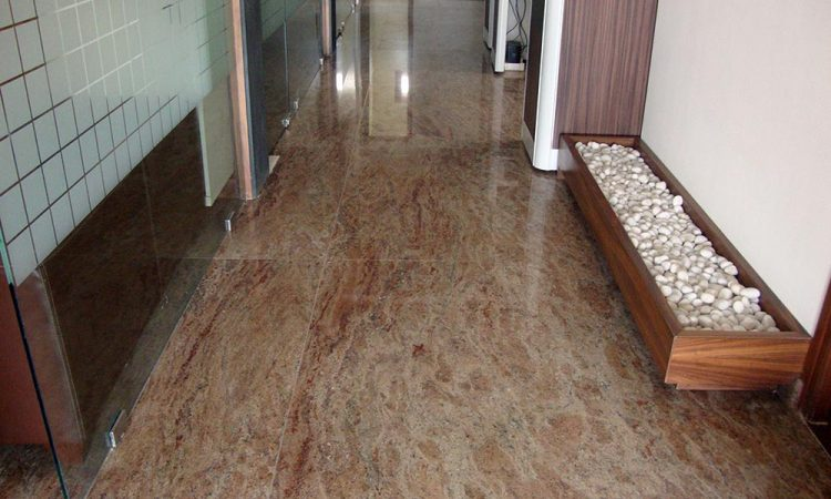 Rosewood granite flooring