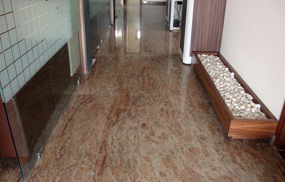 Rosewood granite flooring