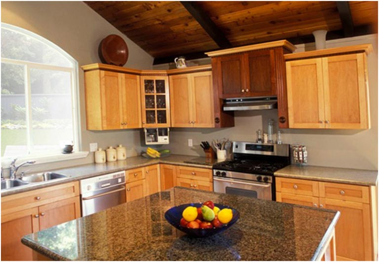 rustic look kitchen with granite