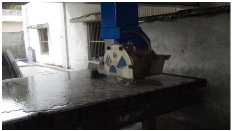 two cutter granite machine