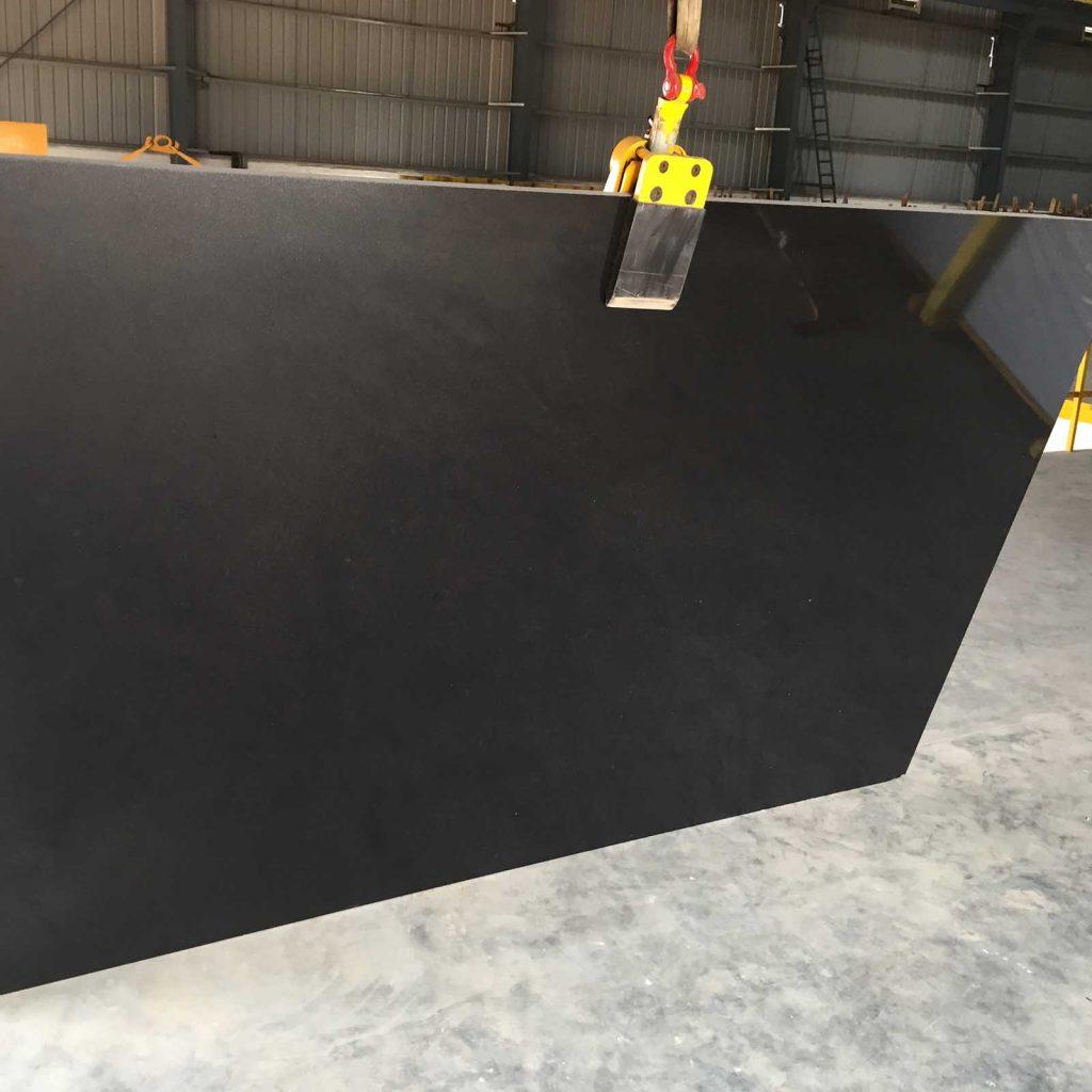 Absolute Black gangsaw slabs polished