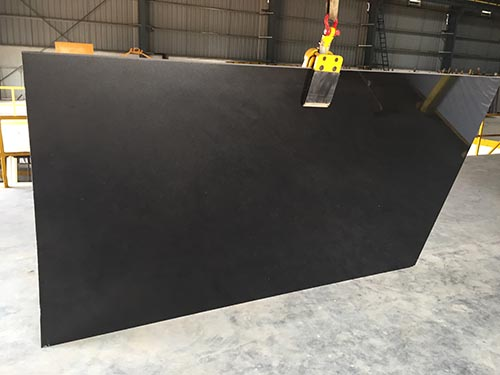 Absolute Black granite gangsaw slabs polished