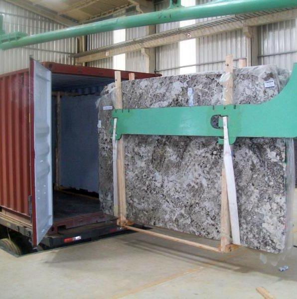 Granite loading in container