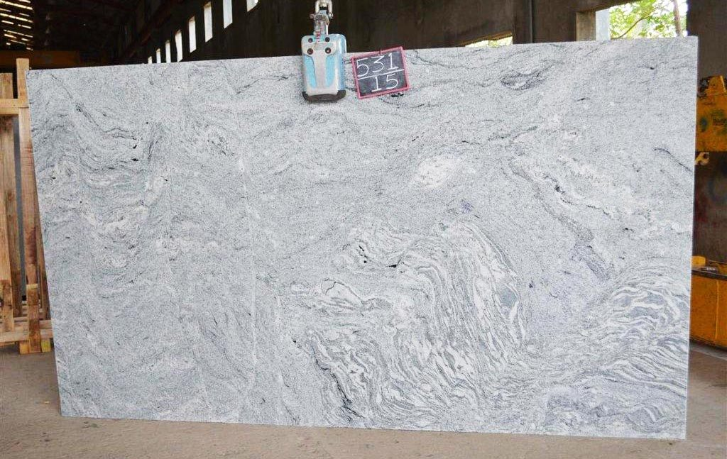 Viscon white gangsaw slab