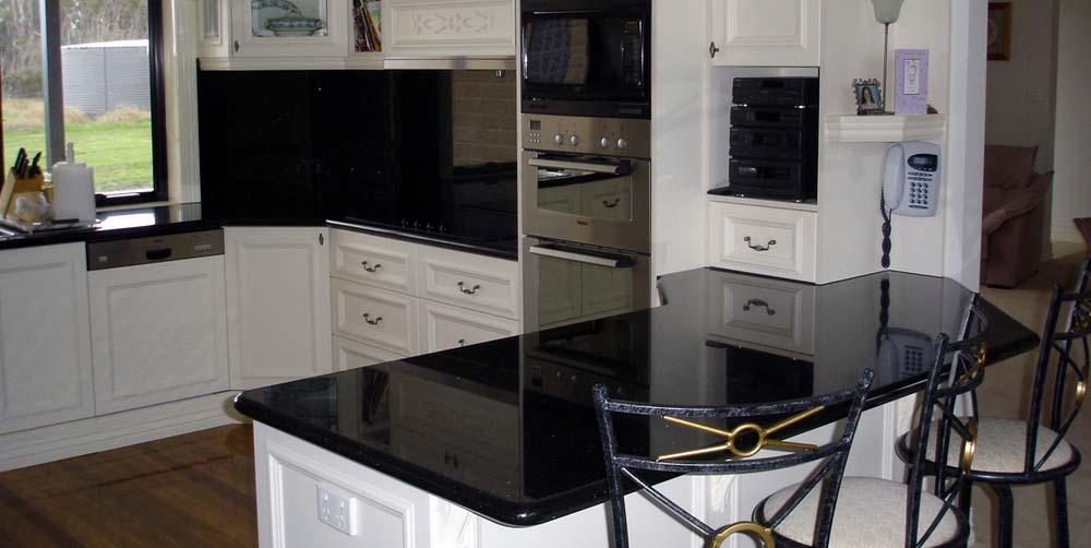 Black Granite Kitchen Counter top maintenance