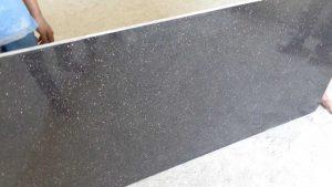 Commercial black galaxy cutter slab
