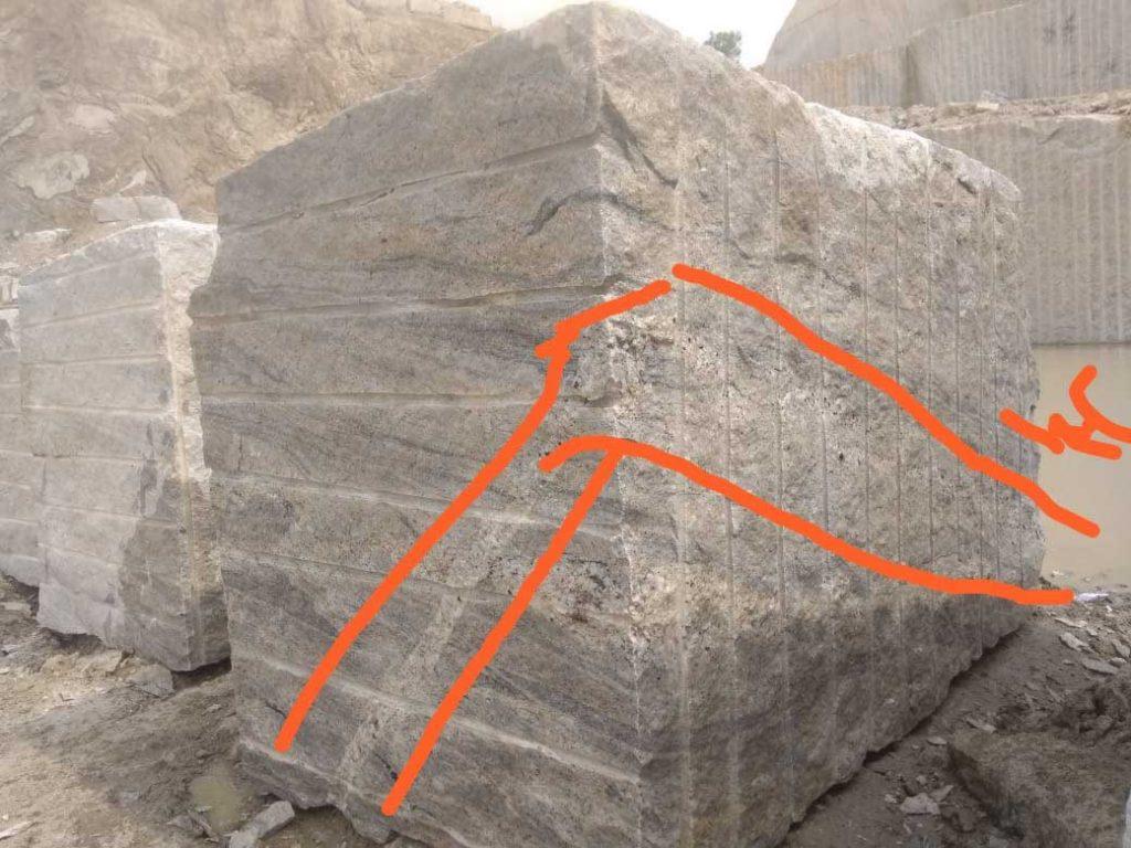Marking defected area in Ivory Block
