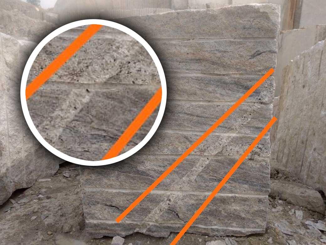 Ivory white granite Rejected Block