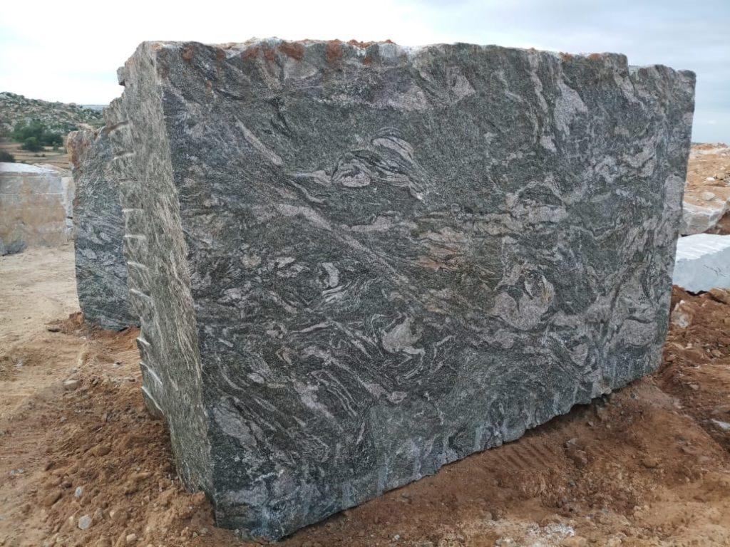 Kuppam green granite gangsaw block