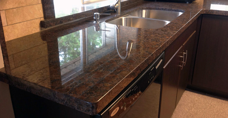 Brown Granite Colors To Render Greater Reflective Look To Surfaces