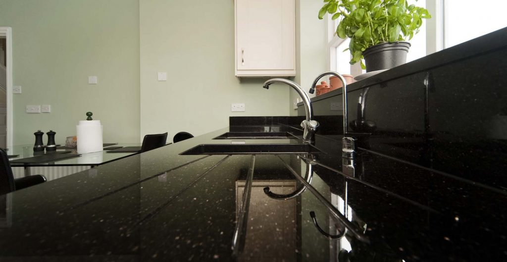Black Granite Countertops For A Modern And Traditional Kitchen As Well
