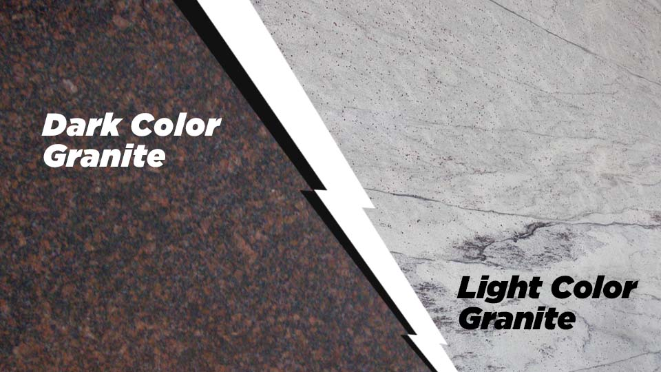 dark color granite vs light color granite