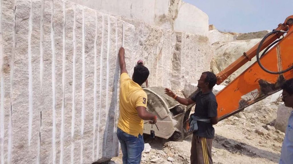 Ivory white block inspection