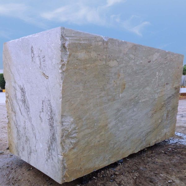 River White Granite Block