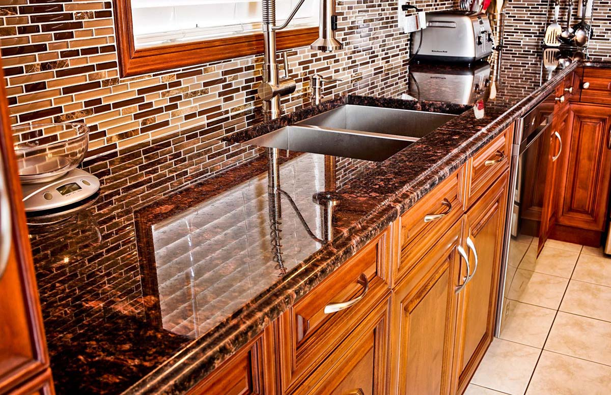 Tan Brown Granite From South India For Decor Purposes