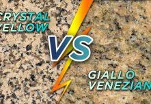 Crystal Yellow vs Giallo Veneziano Granite