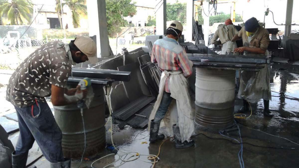window sill granite processing