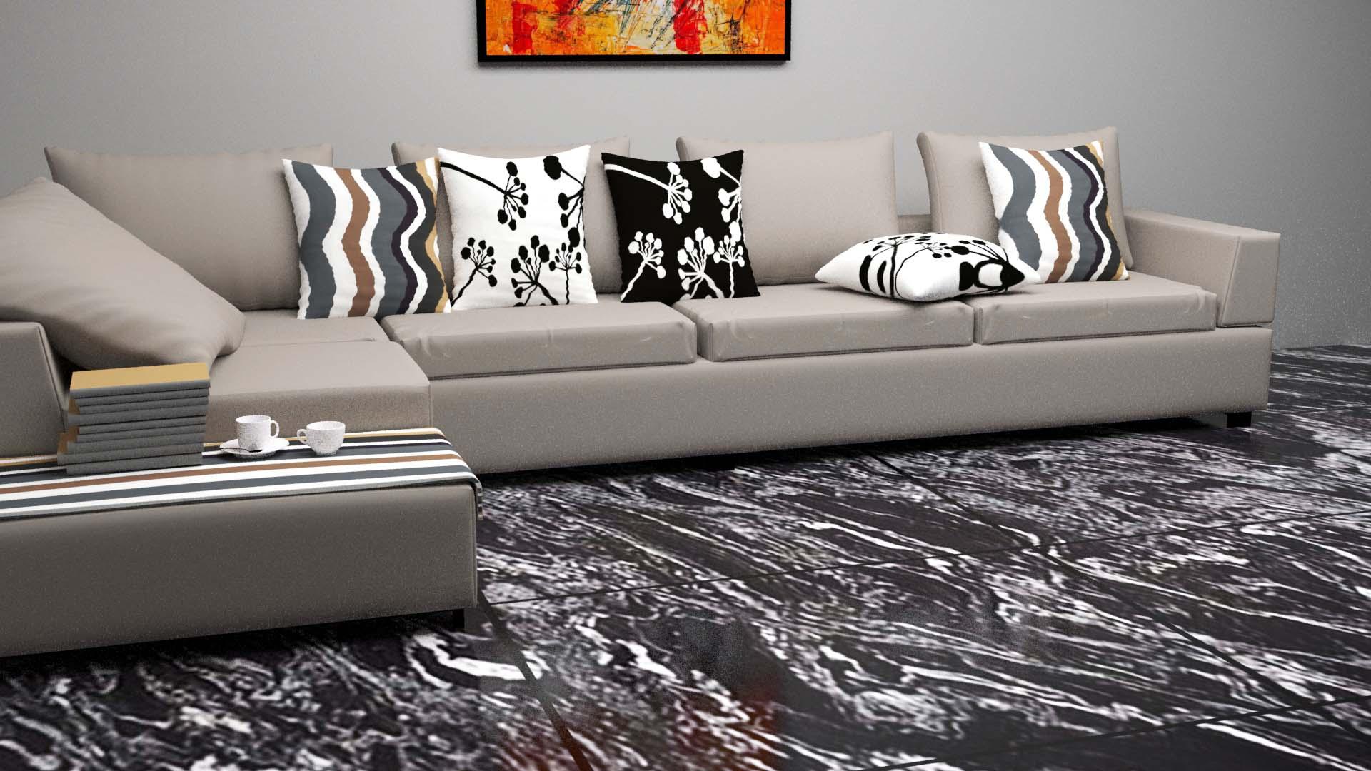 Black Forest Granite Floor Tiles