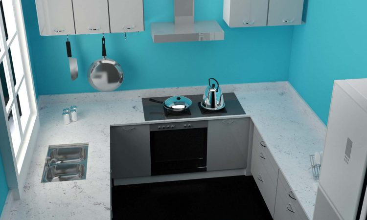 Colonila White Kitchen Countertop