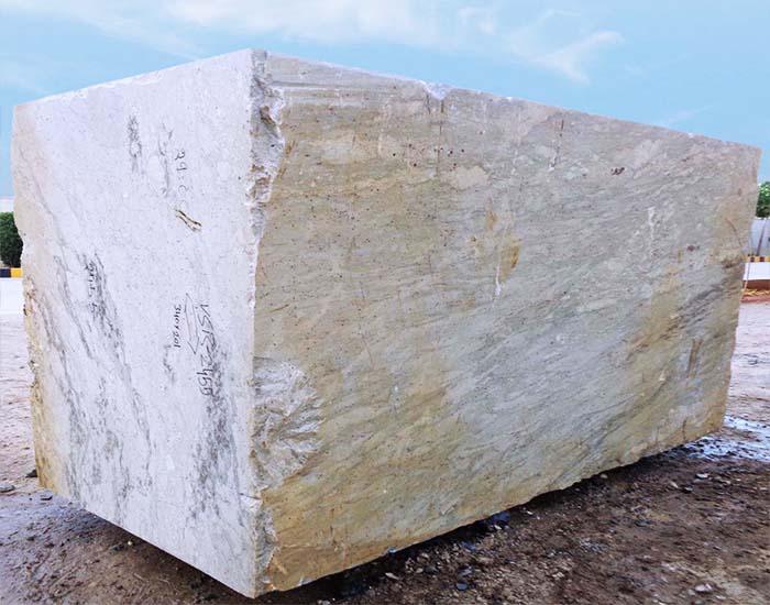 River White Granite Block