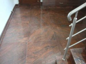 Red Multicolor granite Flooring Project