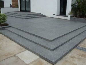 Steel Grey Granite Flooring Project