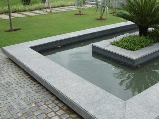 steel grey granite pool side stone