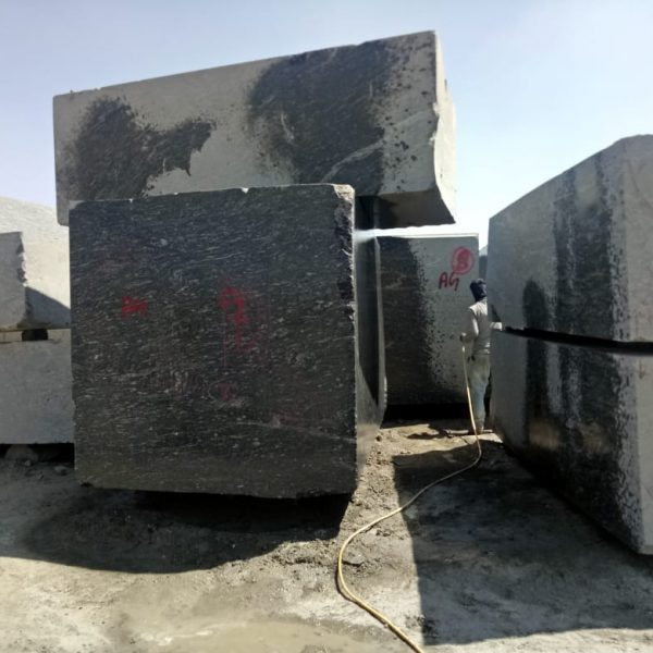 Black marquina granite block