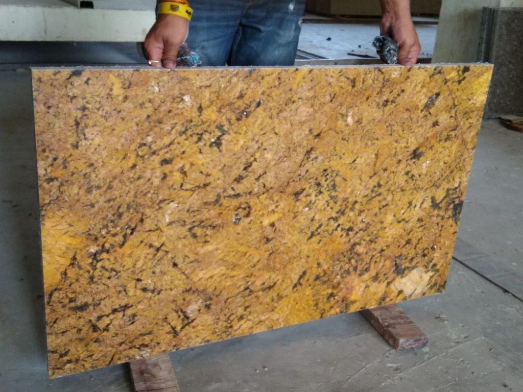 Alaska gold cutter slab granite