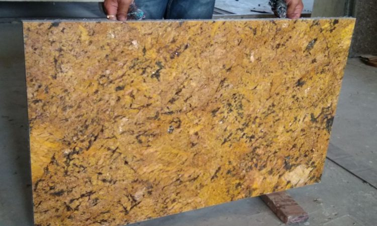 Alaska gold cutter slab granite
