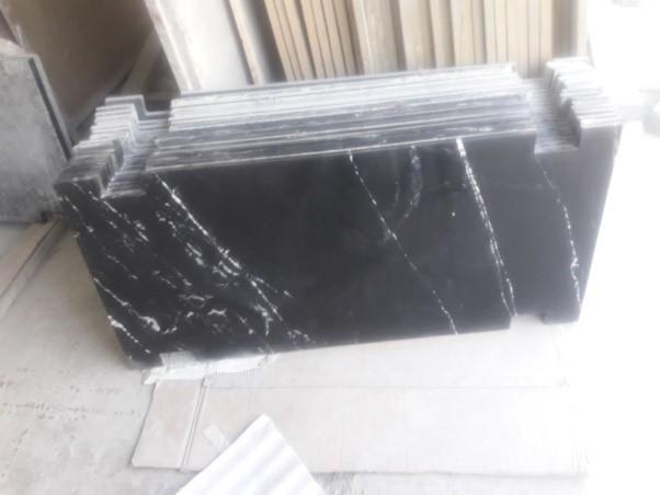 Black Marine Granite Insallation3