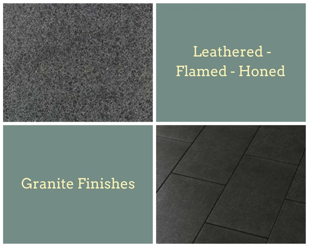 Different types of granite finishes